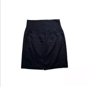 Thyme Maternity Full Panel Stretch Black Skirt